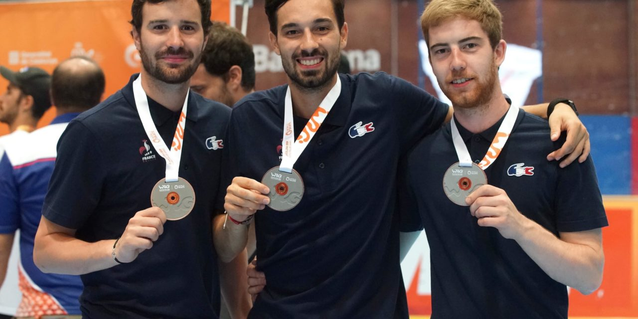 4 Yeti's Grenoble médaillés aux World Roller Games 2019 à Barcelone