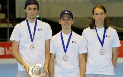 3 cadets en bronze avec l'équipe de France
