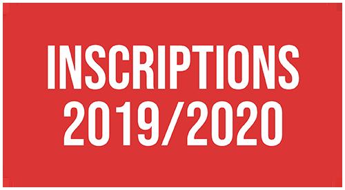 Inscriptions & tarifs saison 2019-2020