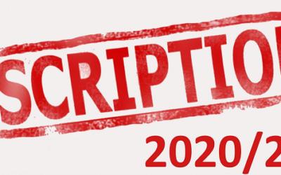 Inscriptions & tarifs saison 2020-2021